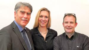 Lutz Brockmann, Christina Hartmann und Martin Drichel Verden