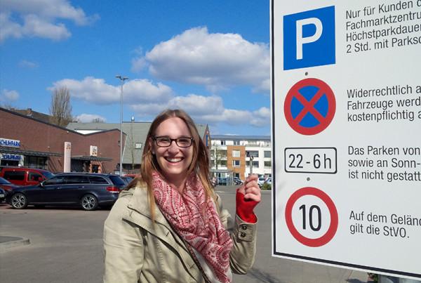 Aussenbeschriftung für Parkplatz in Verden