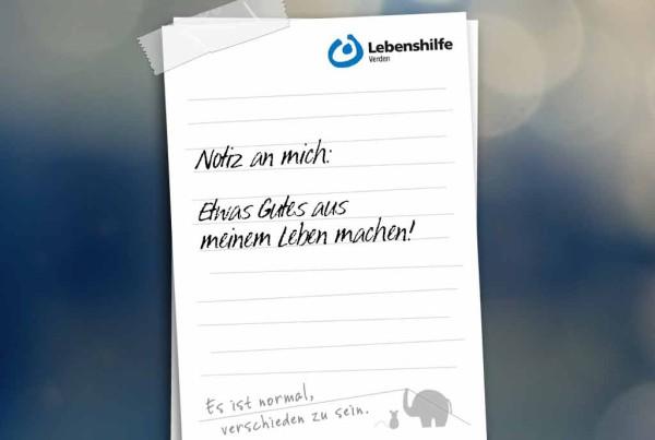 Werbekampagne für die Lebenshilfe Verden