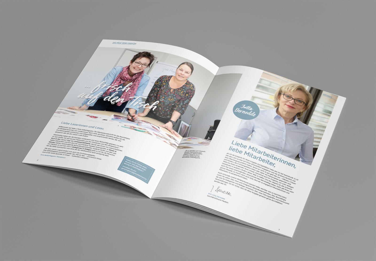 gesundheit nord magazin design