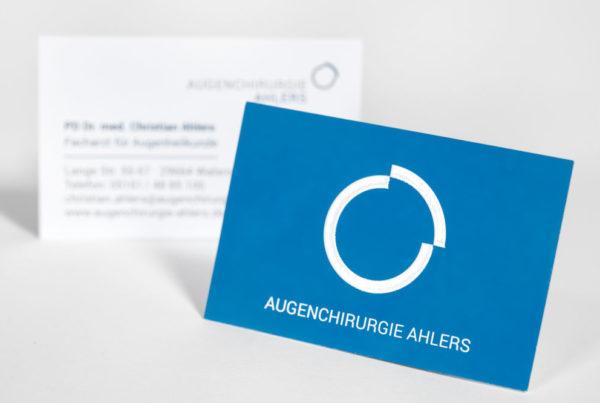 Augenchirurgie-Ahlers-Visitenkarte-gestaltung